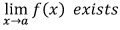 Limit of f(x) exists as x approaches a