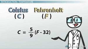 Converting Fahrenheit To Celsius Equation