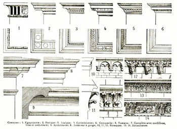 Examples Of Interior And Exterior Cornice Designs Ca 1922