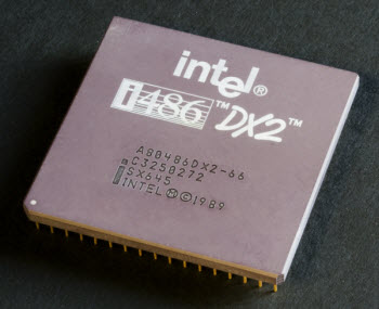 top-view of Intel CPU