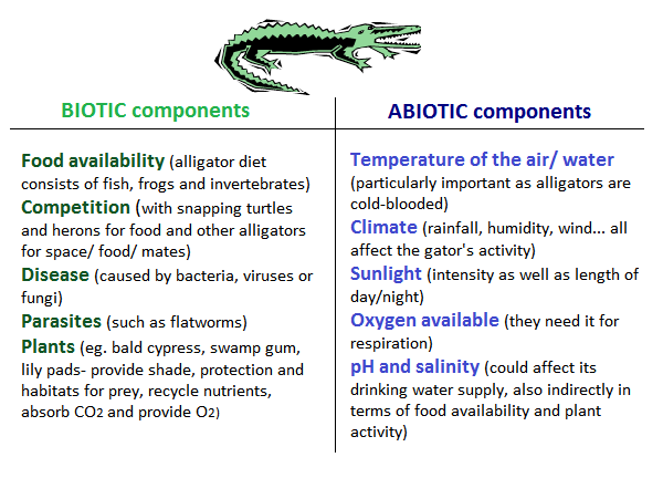 two examples of biotic factors
