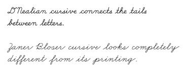 Creative cursive writing