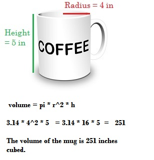 Calculate Volume Of A Coffee Cup
