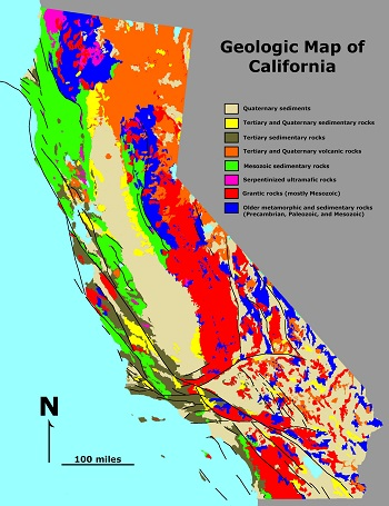 Geologic Map Of California California Geology: Geologic Map & History | Study.com Geologic Map Of California