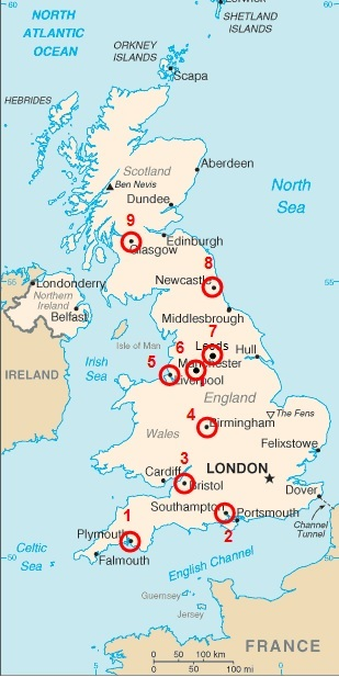Map Of England Showing Major Cities.Major Cities Of The British Isles On A Map Study Com