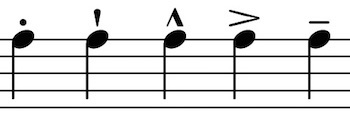 articulation for individual notes