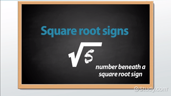 Square Root: Sign, Rules & Problems - Video & Lesson