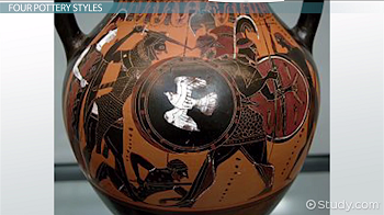 An example of black-figure pottery