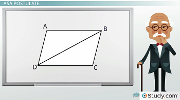 Parallelogram ABCD with diagonal BD