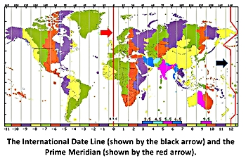 International Date Line On World Map.International Date Line Lesson For Kids Definition Facts Study Com
