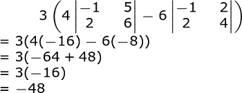determinant of 4x4 matrix