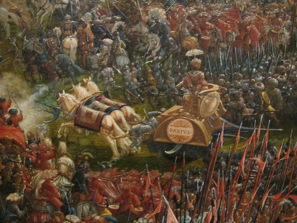 Altdorfer 39 s the battle of alexander at issus subject for Battle of issus painting