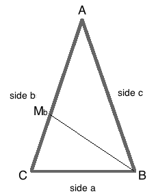 Median of a triangle definition formula video lesson moving onto this isosceles triangle we see that side b 6 cm and median b 5cm lets find the length of the base of the triangle ccuart Gallery