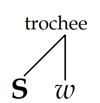 Diagram of a trochaic metrical foot