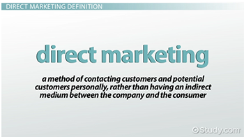 an introduction to the definition and an analysis of the direct marketing When you're tackling a new international market, should you approach customers  directly, or work indirectly through an in-market channel partner both direct.