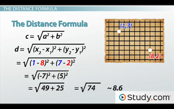 distance formula calculations