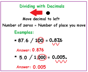 Multiplying & Dividing Decimals With Mental Math: Lesson for Kids ...