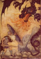 Beowulf Defeats the Dragon
