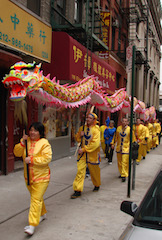 dragon walk chinese new year