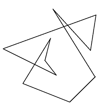 decagon with intersecting sides