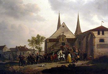 Desecration of a church during the French Revolution
