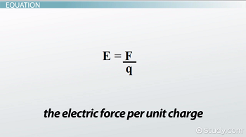 General equation for an electric field