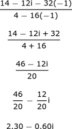 Simplifying Complex Numbers Conjugate Of The Denominator Study Com