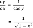 dy/dx_=_1/square_root(1-x^2)