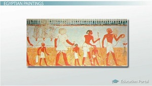 Egyptian Paintings Assisted Dead