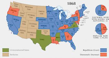 Presidential Election of 1868: Ulysses S. Grant vs ...