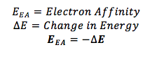 Electron Affinity Equation