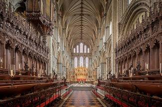 ely cathedral in england architecture stained glass history