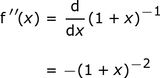 derivative_of_(1+x)^-1