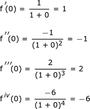 First_four_derivatives