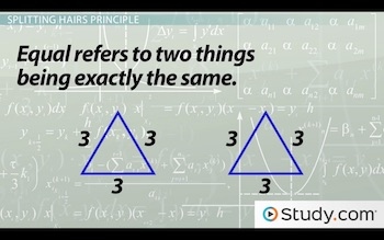 two equal triangles