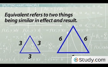 two equivalent triangles