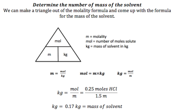 determining the solute concentration of a The solute concentration is the amount of particles that are dissolved in a solutionmolarity is used for expressing concentration of solute molarity = number of moles of solute/weight of solvent (kg.