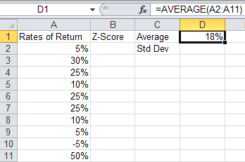 Get Average Excel