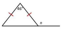 Triangle With Angles Labeled
