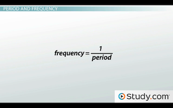 equation for frequency and period