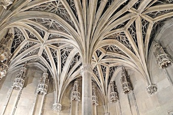 Intricate Vaulting In The Flamboyant Gothic Chapel Of Hotel De Cluny