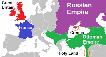 Crimean Peninsula Europe Map.Causes Of The Crimean War Lesson For Kids Study Com