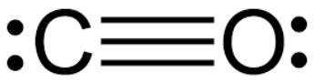 What is the Lewis structure of carbon monoxide?   Study.com