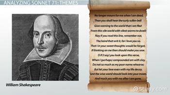 shakespeare sonnet 71 analysis