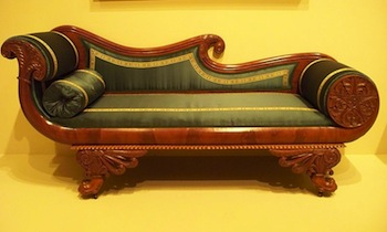American Empire Couch, Modeled On Roman Reclining Beds