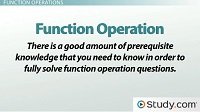 function operation