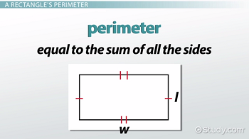 Perimeter equation for a rectangle