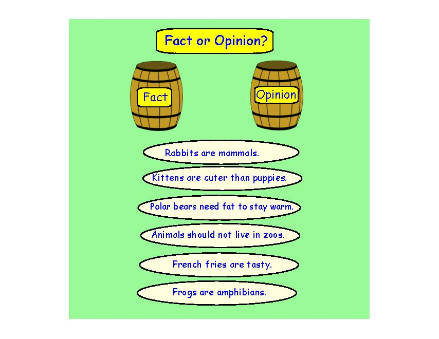 fact or opinion sorting