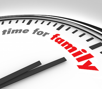 Clock Marking Family Time