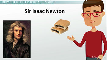 Portrait of Sir Isaac Newton and fig newtons
